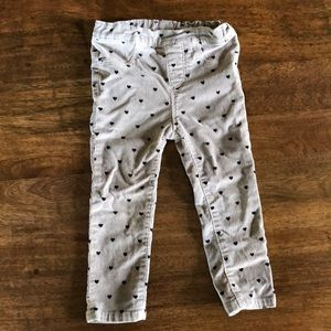 H&M skinny cords with hearts